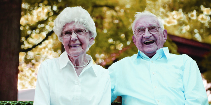image of senior couple happy together because they have AllCare as their in-home care agency